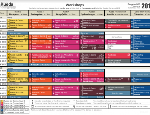 Final workshop schedule