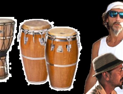 Percusión en vivo en talleres Afro / Rumba